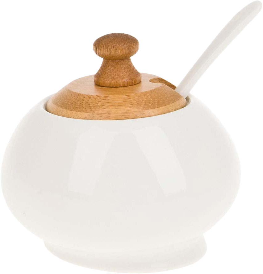 Сахарница BHP Naturel, с ложкой, 230 мл. 2640334 best home porcelain сахарница evita 10х12х16 см