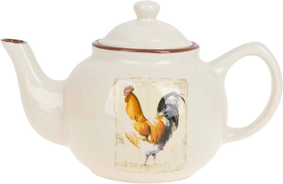 """Заварочный чайник """"Золотой петушок"""" изготовлен из качественной керамики.Универсальный орнамент подойдет к любому интерьеру."""