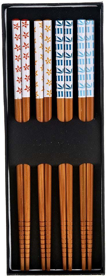 Набор палочек для суши BHK, длина 22,5 см, 4 пары набор палочек для суши на 5 персон 25 11 2см уп 1 100наб