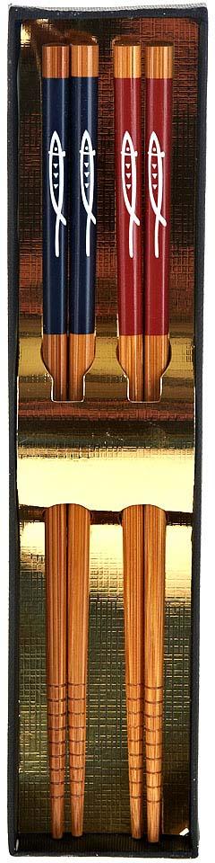 Набор палочек для суши BHK, длина 22,5 см, 2 пары набор палочек для суши на 5 персон 25 11 2см уп 1 100наб