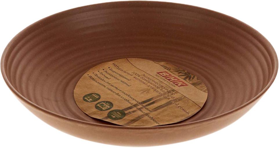 Тарелка из бамбукового волокна - это экологически чистая и безопасная для всех посуда для ежедневного использования и отдыха.