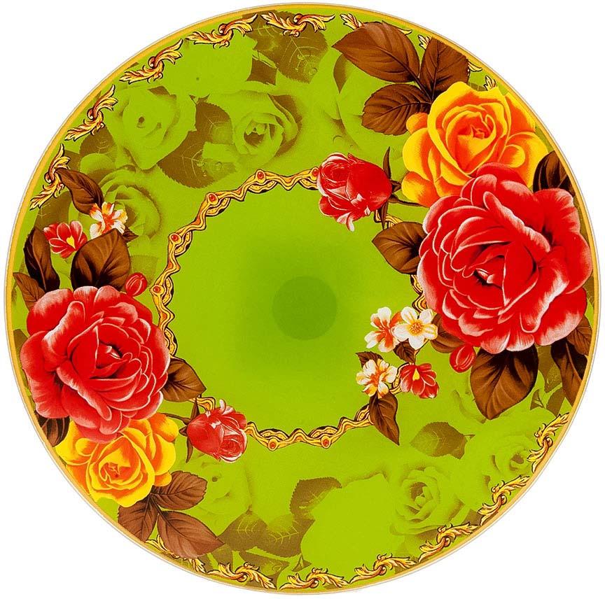 """Вращающееся блюдо """"Розы"""" дополнит любой праздничный стол.Его яркий дизайн - отличный акцент в вашем интерьере."""