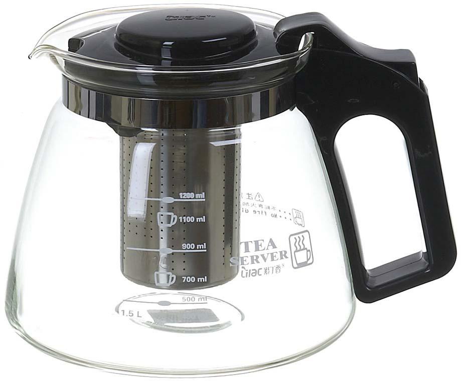Чайник заварочный Lilac, с фильтром, 1,5 л. 5520009 заварочный чайник с фильтром elegant pc 701 travel buddy