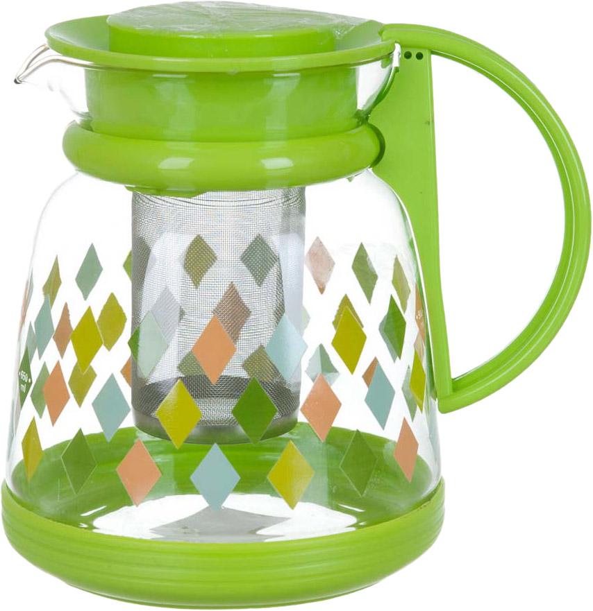 Чайник заварочный BHK, с фильтром, 1,3 л чайник заварочный bekker koch с фильтром цвет красный 1 25 л