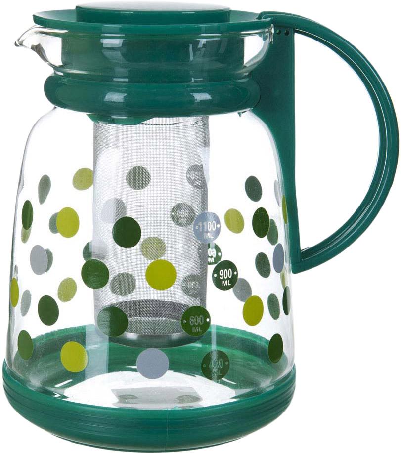 Чайник заварочный BHK, с фильтром, 1,6 л чайник заварочный bekker koch с фильтром цвет красный 1 25 л