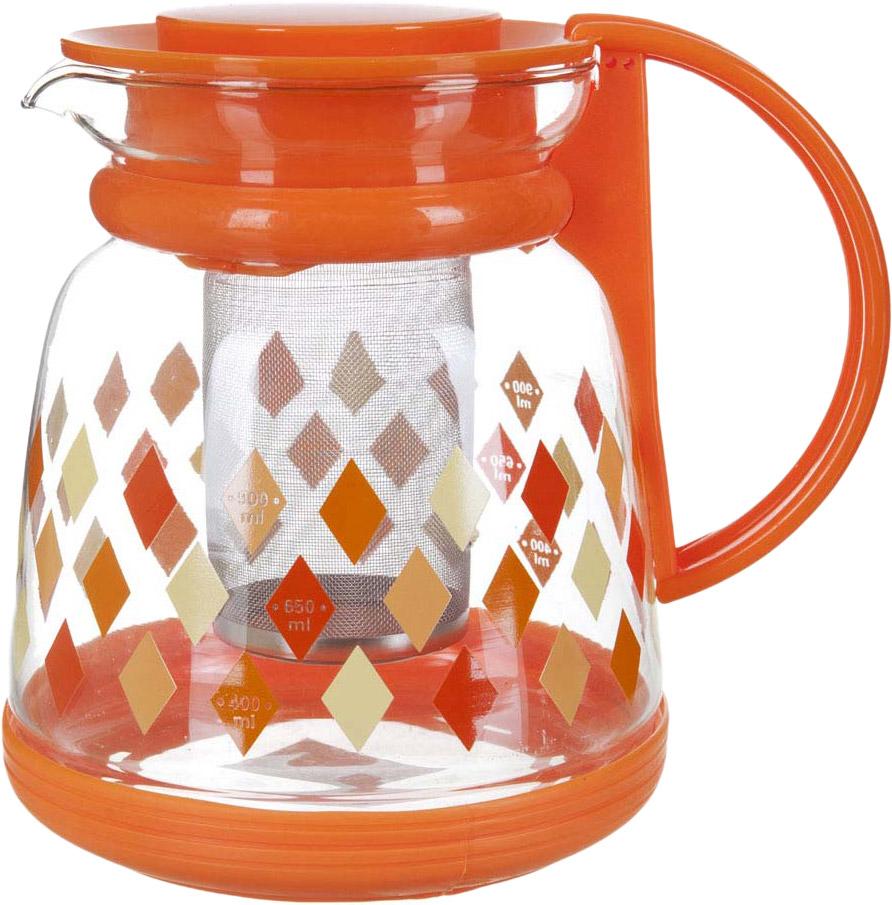 Чайник заварочный BHK, с фильтром, 1,3 л. 5521046 чайник заварочный bekker koch с фильтром цвет красный 1 25 л