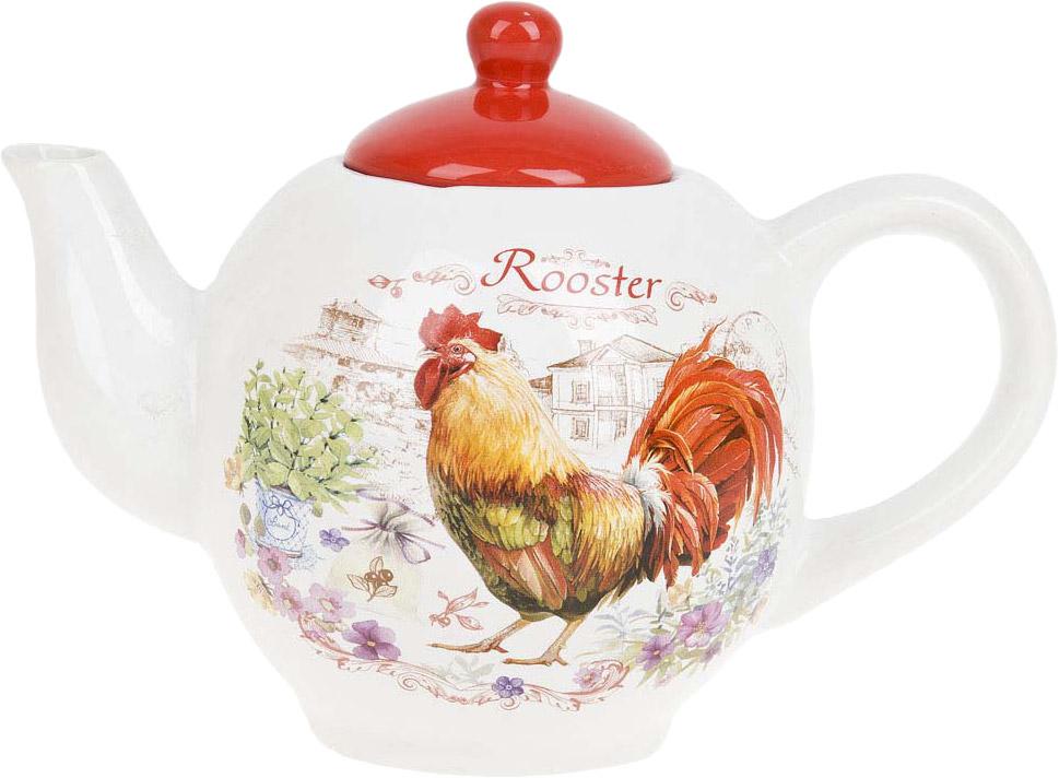"""Заварочный чайник """"Rooster"""" изготовлен из качественной керамики.Универсальный орнамент подойдет к любому интерьеру."""
