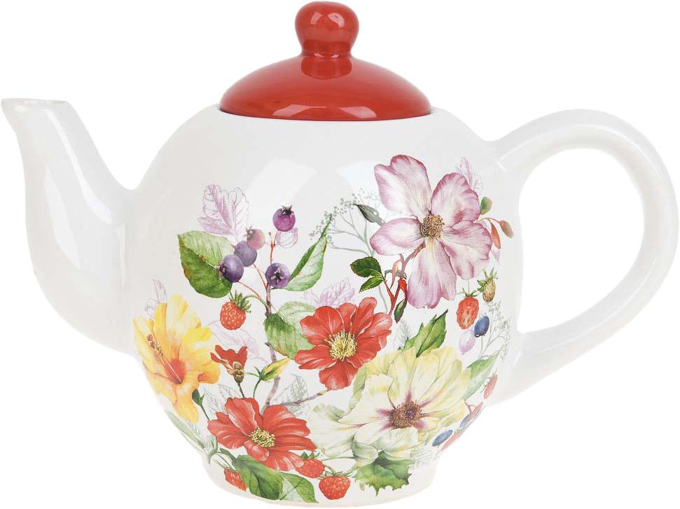 """Заварочный чайник """"Summer"""" изготовлен из качественной керамики.Универсальный орнамент подойдет к любому интерьеру."""