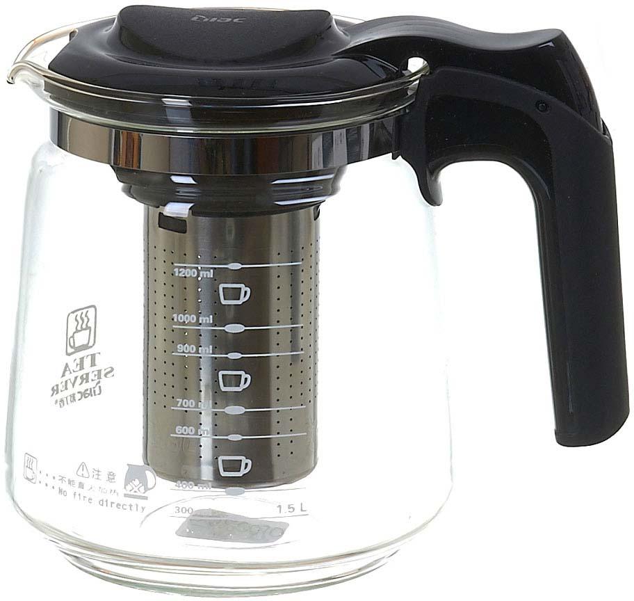 Чайник заварочный Lilac, с фильтром, 1,5 л. 5520010 чайник заварочный bekker koch с фильтром цвет красный 1 25 л