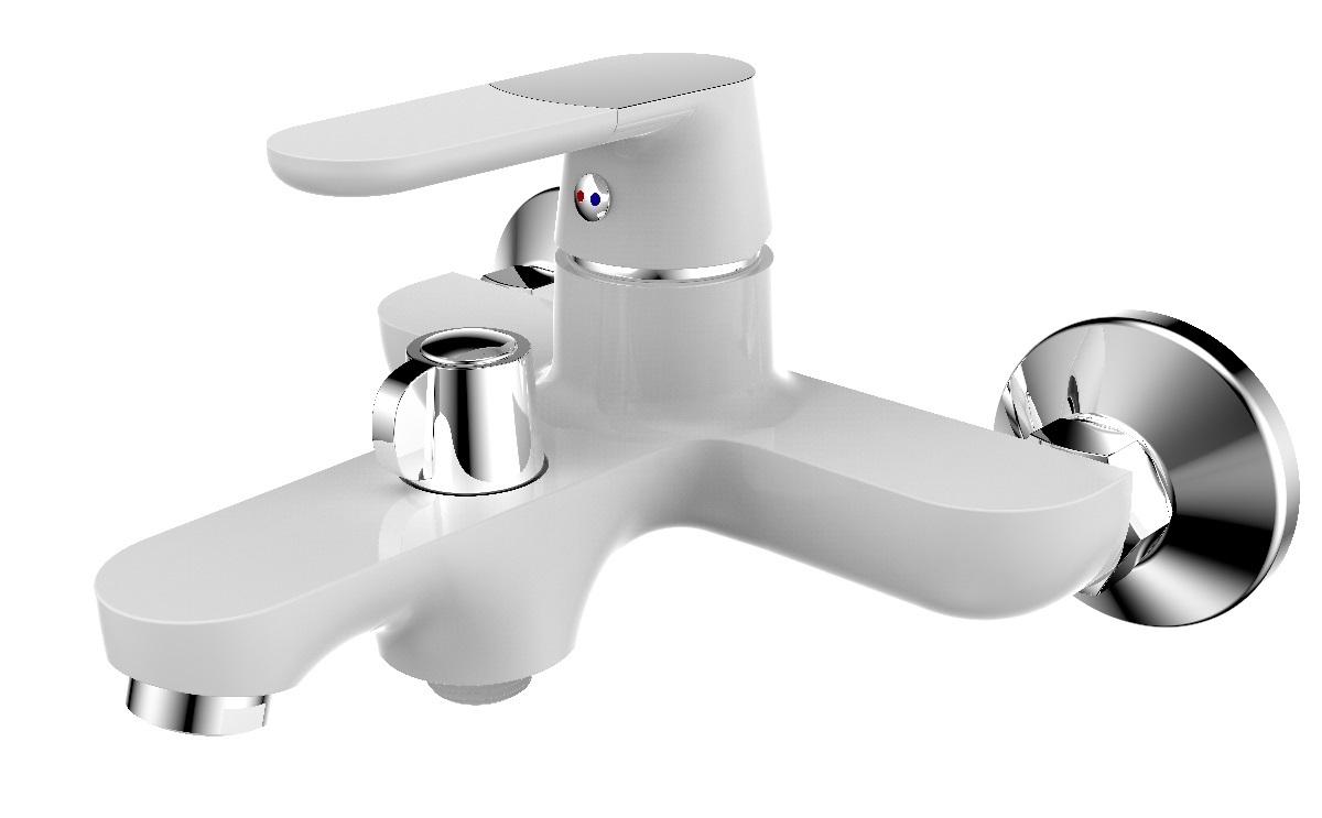 Смеситель для ванны РМС, вертикальный, цвет: белый. SL123W-009E лейка union для душа 83 мм