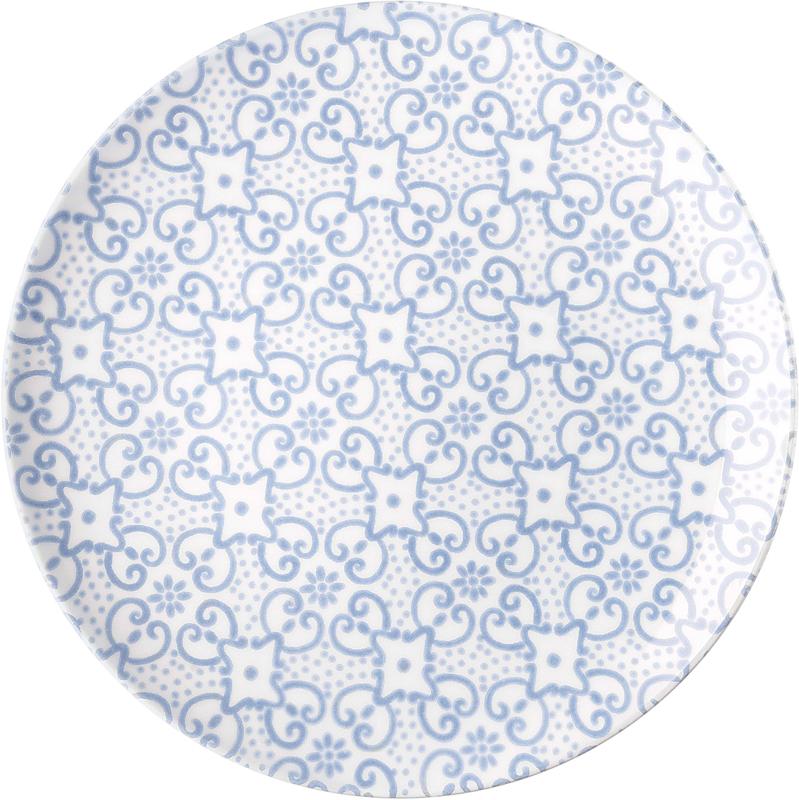 """Два молодых дизайнера, Ева Манкузо и Йолита Манолова, объединили свои усилия по воплощению традиционных средиземноморских мотивов в современной коллекции посуды """"Le Maioliche"""". Майолика - это разновидность керамики, которую изготавливают из обожженной глины и глазури. Своего расцвета эта техника достигла в Италии в эпоху Возрождения, а сегодня её живописный вид и яркую энергию передает посуда, в название которой попали женские итальянские имена - Агата, Кармела, Кончетта, Иммаколата, Мария и Розалия. Шесть имен символизируют шесть разных историй о минувших днях, к которым теперь мы можем прикоснуться за большим обеденным столом.Диаметр обеденной тарелки - 26 см. Можно мыть в посудомоечной машине, пригодна для использования в микроволновой печи."""