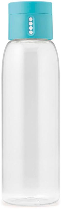 Уникальная бутылка, которая поможет вам контролировать ежедневное потребление воды. Инновационная крышка со счетчиком запомнит каждое наполнение бутылки в течение дня. Просто закрутите крышку до появления точки, а для питья используйте верхнюю крышку. Новая точка появится каждый раз, когда бутылка заново заполнена и крышка закручена. Из гладкого литого носика бутылки удобно пить, а широкое горлышко идеально для насыпания льда и мытья. Герметичная крышка надежно защитит содержимое от вытекания. Бутылка изготовлена из экологичного и удапрочного материала Tritan.Объем - 600 мл.