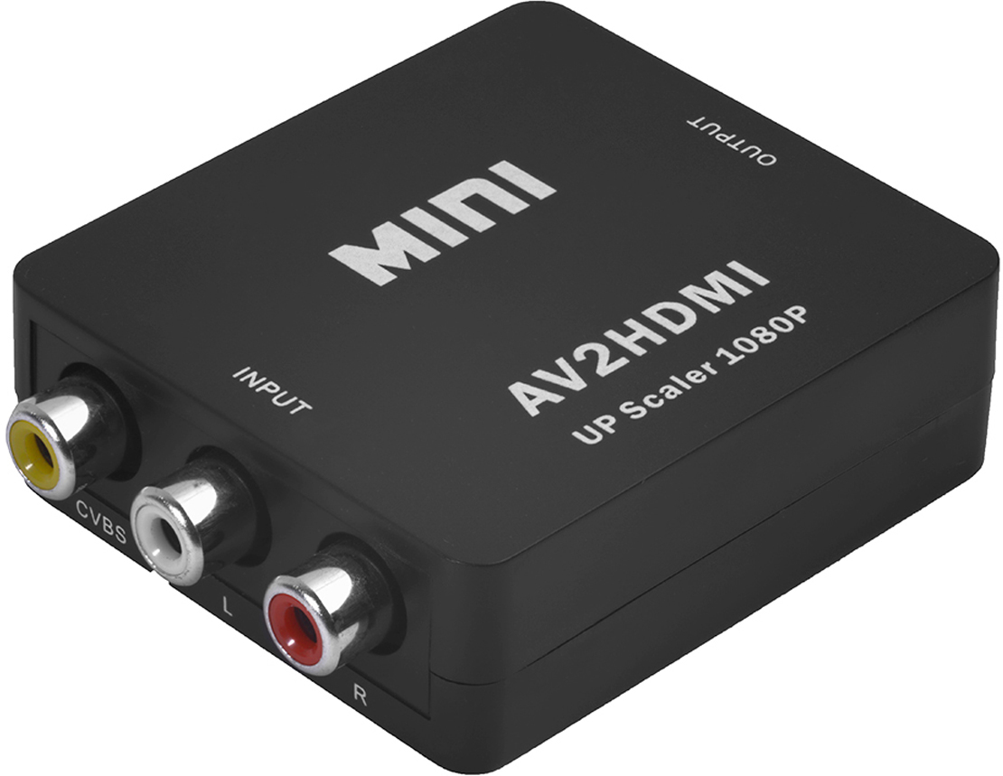 Greenconnect GL-v125, Black мультимедиа конвертер Mini AV RCA - HDMI