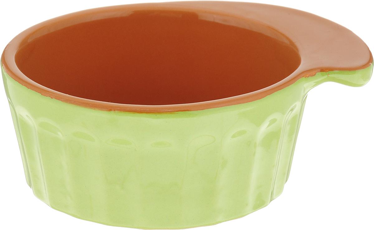 """Кокотница Борисовская керамика """"Ностальгия"""", цвет: салатовый, 200 мл. РАД14457899"""