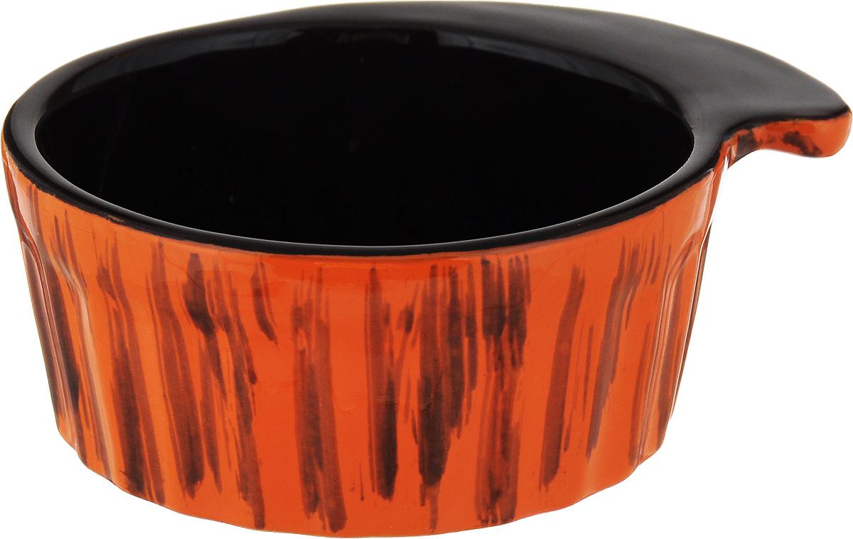 Кокотница Борисовская керамика Ностальгия, цвет: оранжевый, 200 мл. РАД14457899 кокотница борисовская керамика ностальгия цвет красный 200 мл рад14457899