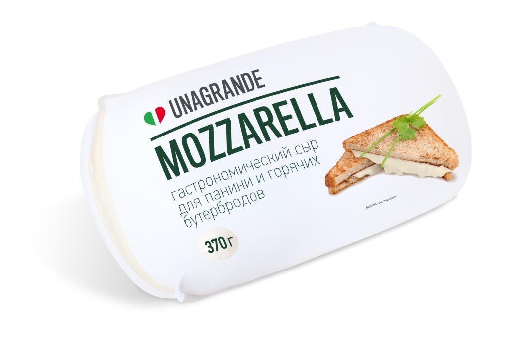 Unagrande Сыр Моцарелла для панини и горячих бутербродов, 45%,370 г galbani сыр моцарелла 45% 125 г