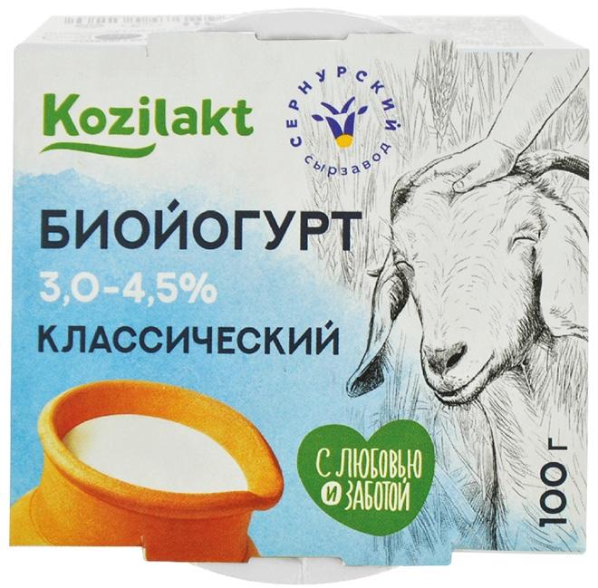 Формула здоровья Биойогурт из цельного козьего молока, 3 - 4,5%, 100 г danone биойогурт густой термостатный 4
