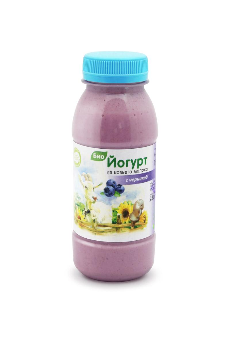 Формула здоровья Биойогурт из цельного козьего молока с Черникой 3 - 4,5%, 230 г danone биойогурт густой термостатный 4