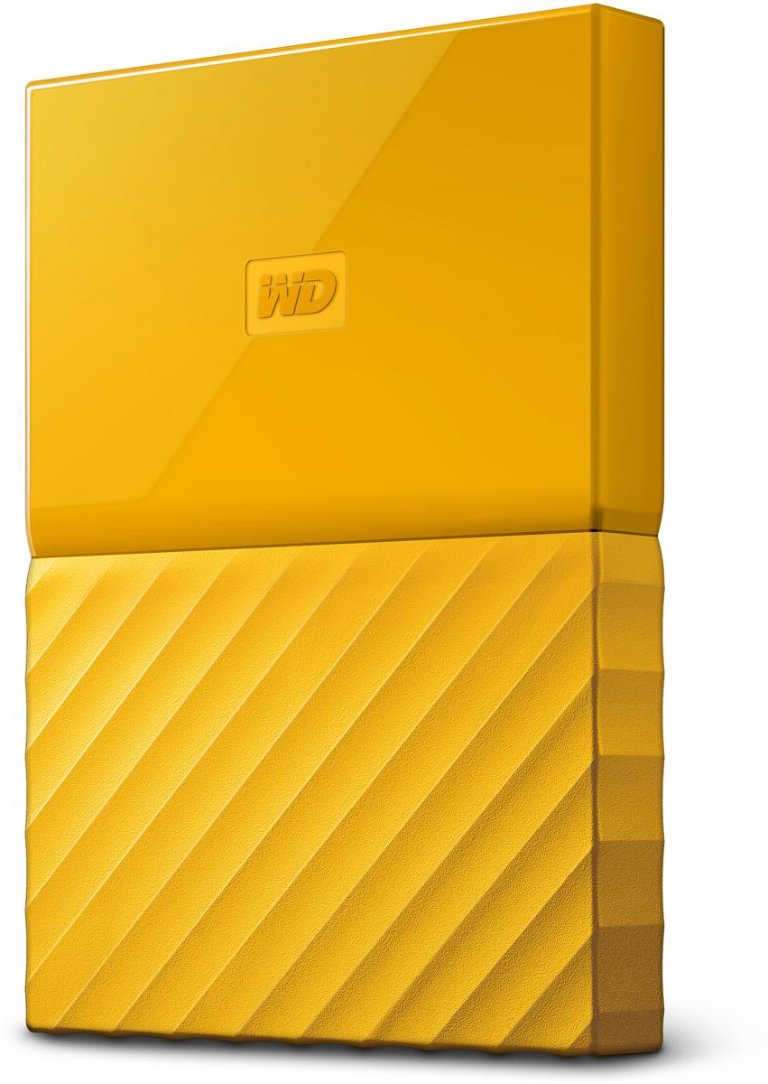 WD My Passport 2TB, Yellow внешний жесткий диск (WDBLHR0020BYL-EEUE) внешний жесткий диск 2 5 4000gb wd my passport game storage wdbzge0040bbk wesn usb3 0 for ps4 ps4 pro черный