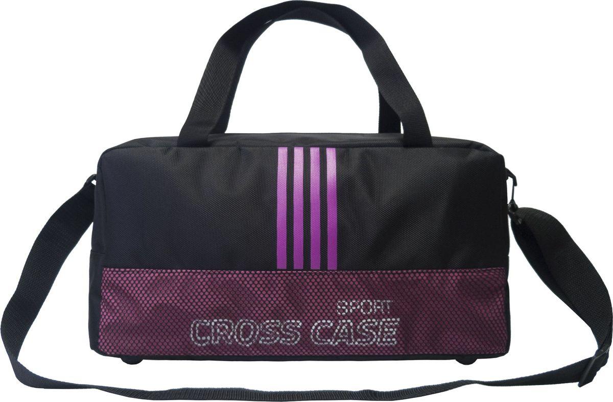 Сумка спортивная Cross Case, цвет: черный, сиреневый. CCS-1043-01