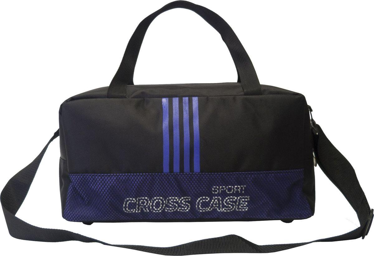 Сумка спортивная Cross Case, цвет: черный, фиолетовый. CCS-1043-02
