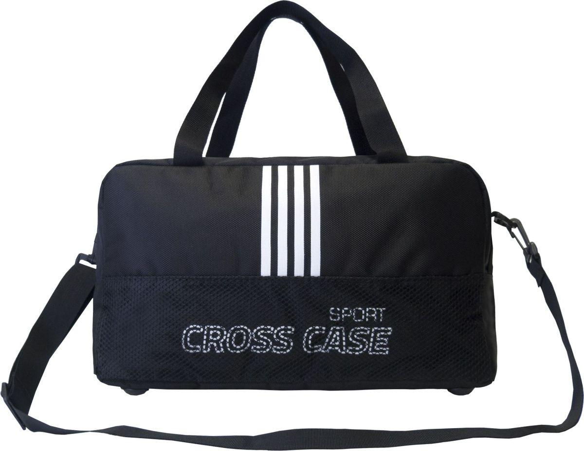 Сумка спортивная Cross Case, цвет: черный, белый. CCS-1043-03