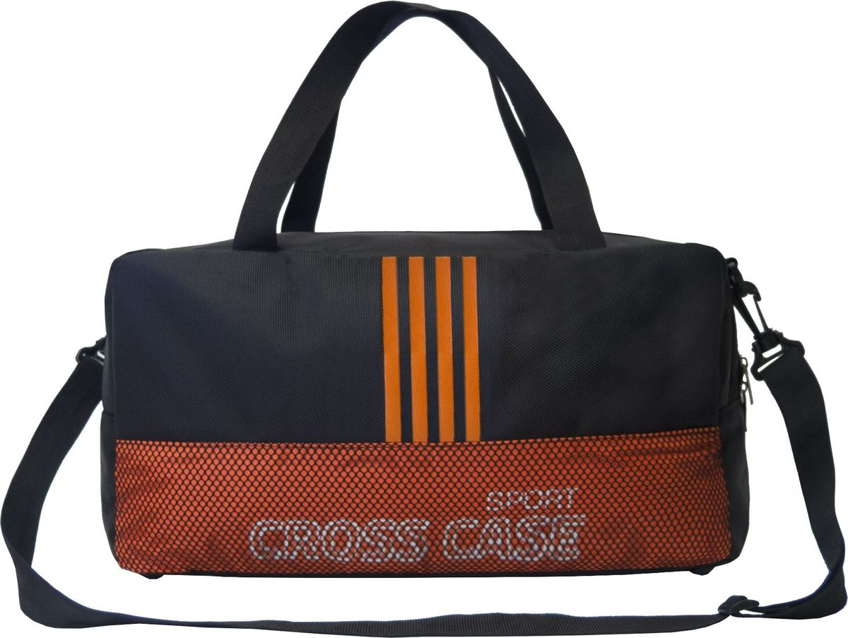 Сумка спортивная Cross Case, цвет: черный, оранжевый. CCS-1043-04
