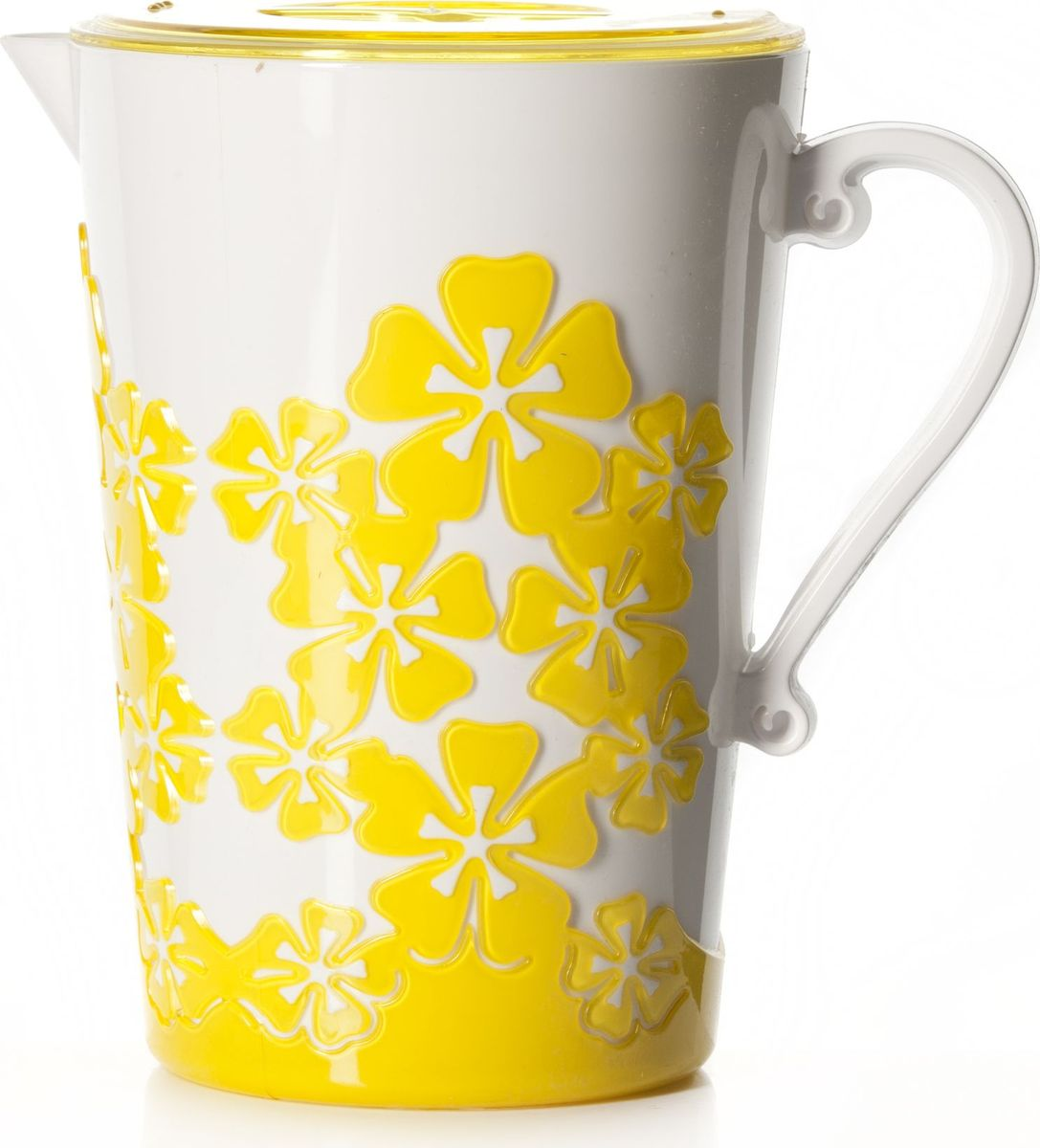 Кувшин Альтернатива Камелия, с крышкой, цвет: желтый, 2,2 л лейка альтернатива цвет желтый 7 л