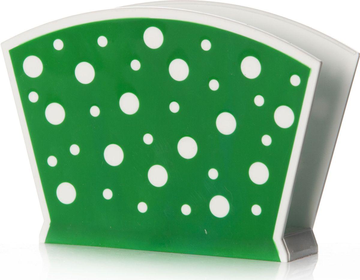 """Салфетница Альтернатива """"Горошек"""" изготовлена из высококачественного пластика и оформлена оригинальным рисунком. Изделие сочетает в себе изысканный дизайн с максимальной функциональностью. Такая салфетница станет не только украшением любого стола, но и отличным подарком."""