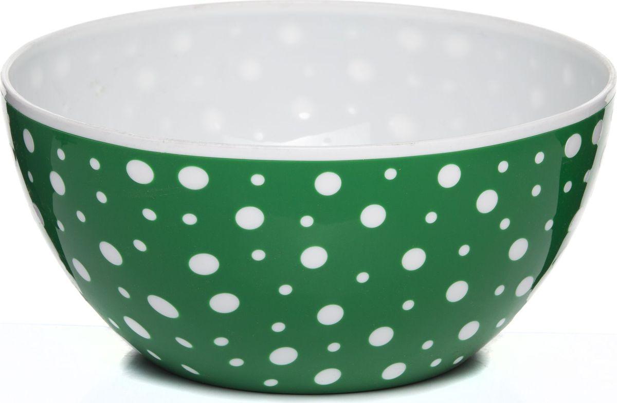 Чаша Альтернатива Горошек, цвет: белый, зеленый, 3 л чаша альтернатива соблазн цвет красный 1 7 л