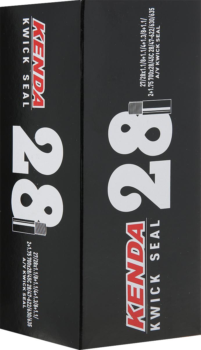 Велокамера Kenda 28'' 700x28 - 45C, a/v - дорожная с наполнителем от проколов камера велосипедная kenda 700 28 32c