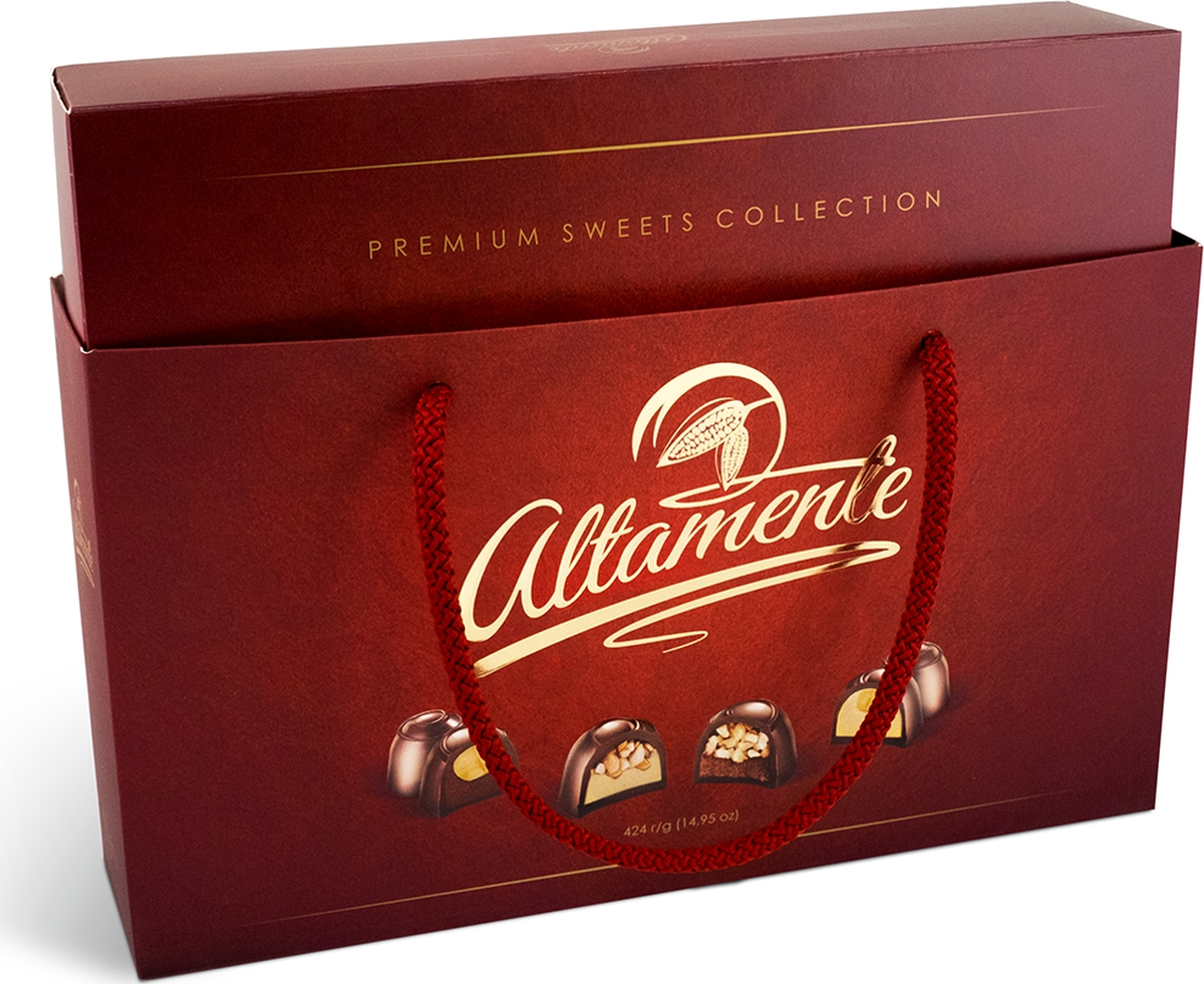 Спартак Altamente набор конфет цвет красный, 424 г спартак набор шоколадных конфет 300 г