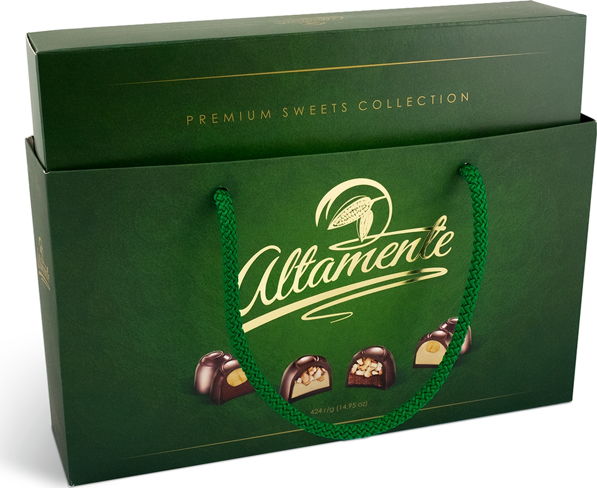 Спартак Altamente набор конфет цвет зеленый, 424 г marchand пралине шоколадные конфеты 200 г 877