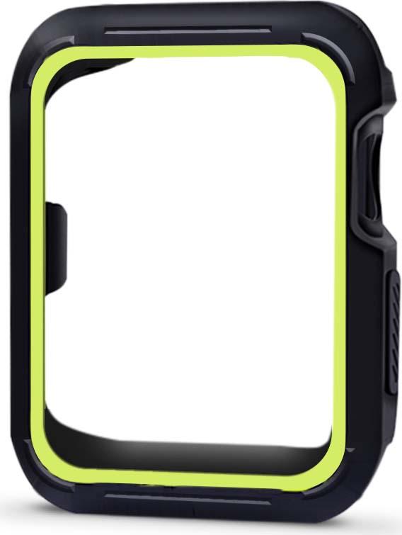 Eva AVC007 чехол для Apple Watch 38 мм, Black Green