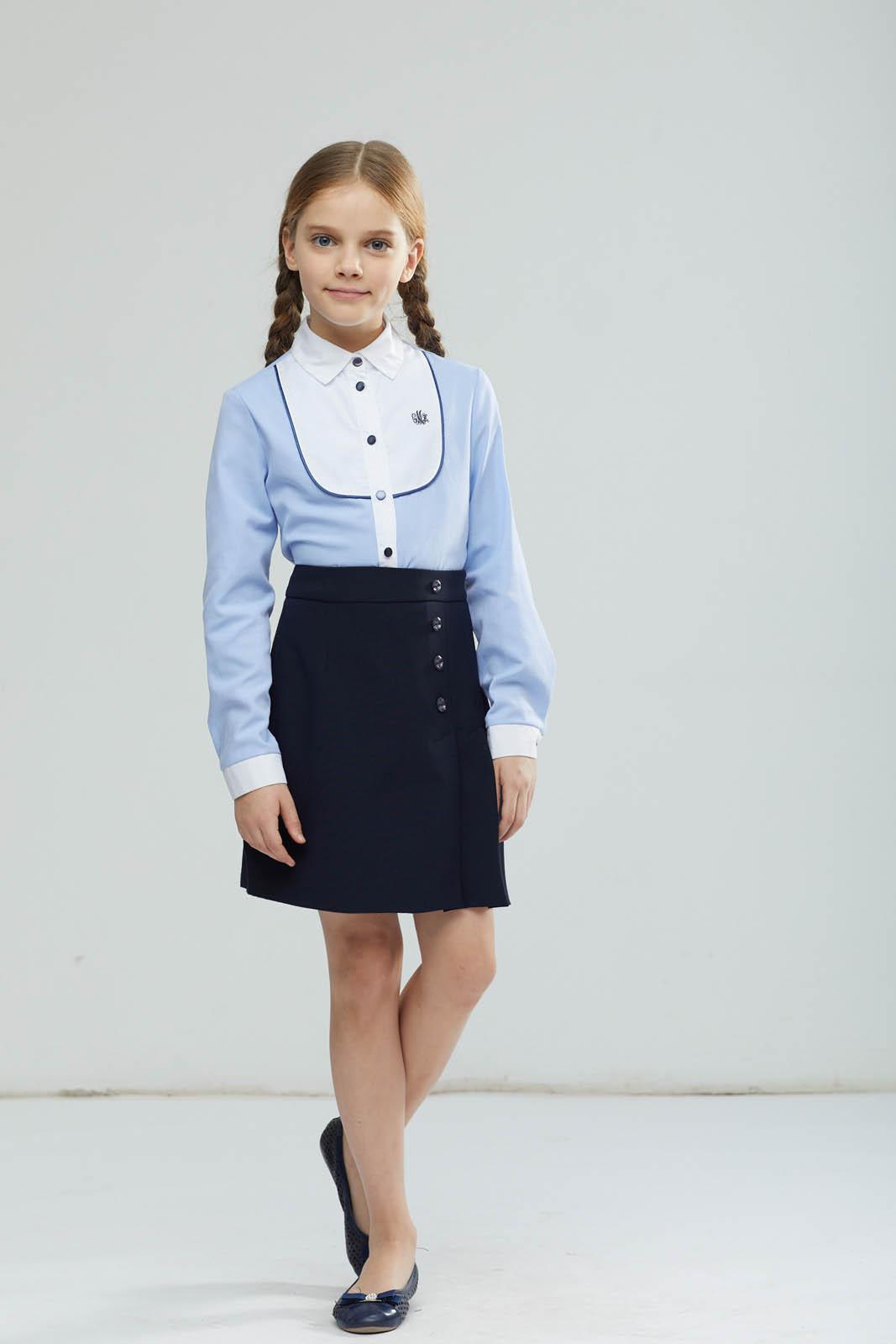 Юбка для девочки Смена, цвет: синий. 15с723-66. Размер 164