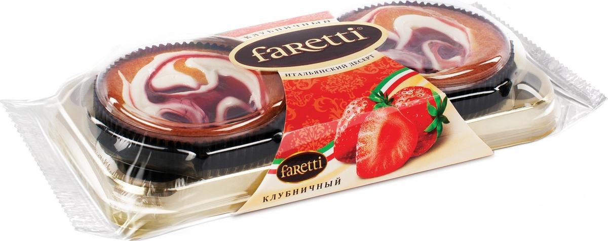 Faretti Пирожное Клубничное, 130 г торт faretti шоколадный 400г