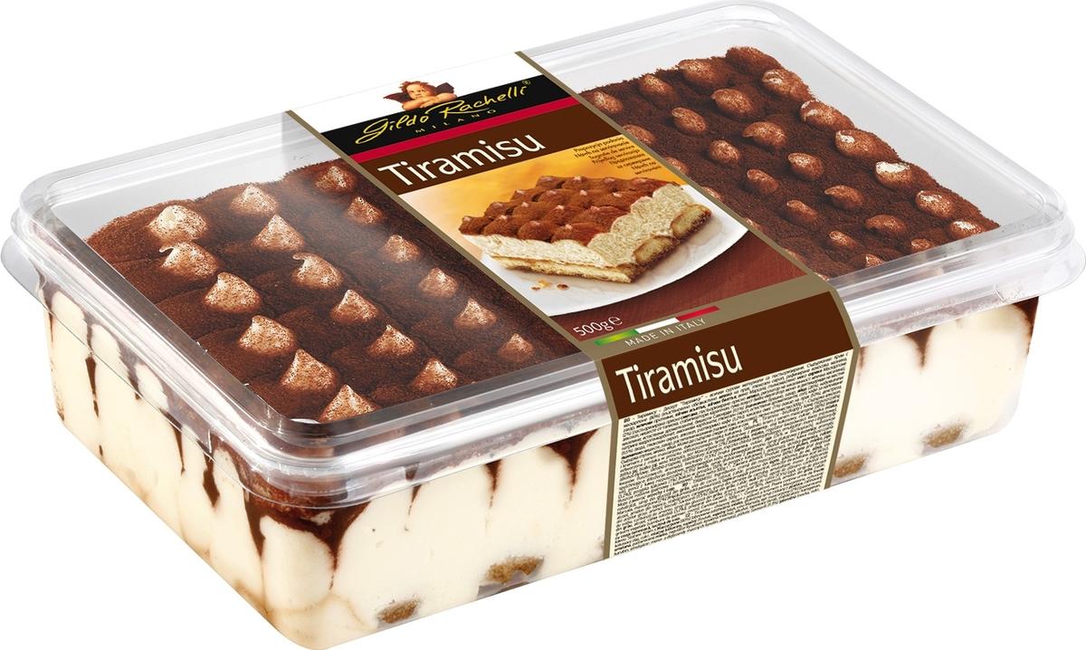 """Gildo Rachelli """"Тирамису"""" - это воздушный десерт с кремовой начинкой с шоколадным соусом."""