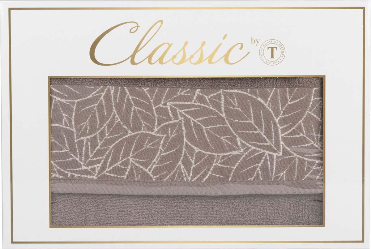 """Набор банных полотенец Сlassic by T """"Гринери"""", цвет: коричневый, 50 х 90 см, 70 х 130 см, 2 шт"""