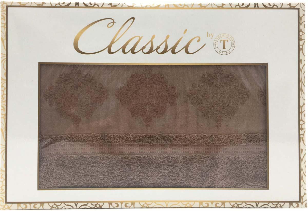 Набор банных полотенец Сlassic by T Ривьера, цвет: коричневый, 50 х 90 см, 70 х 130 см, 2 шт набор полотенец karna sandy цвет стоне 50 х 90 см 70 х 140 см 2 шт