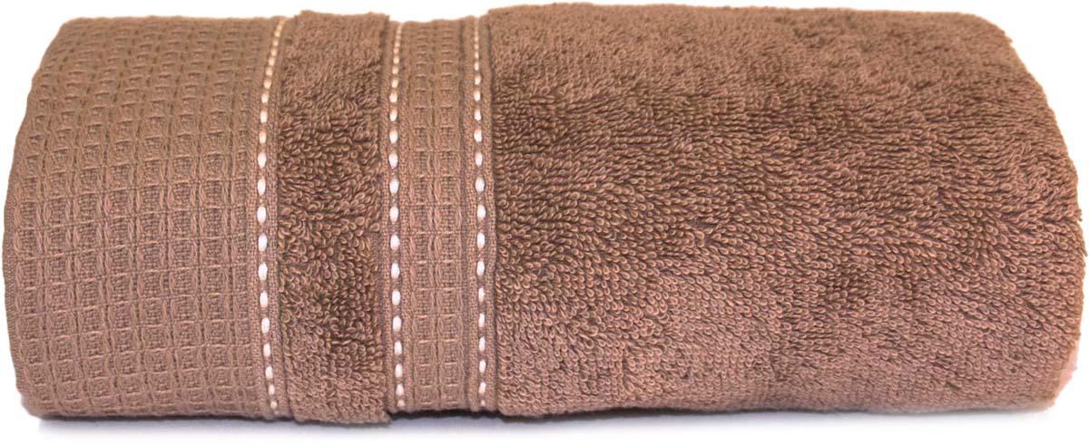 Полотенце Сlassic by T Инди, цвет: коричневый, 50 х 90 см полотенце сlassic