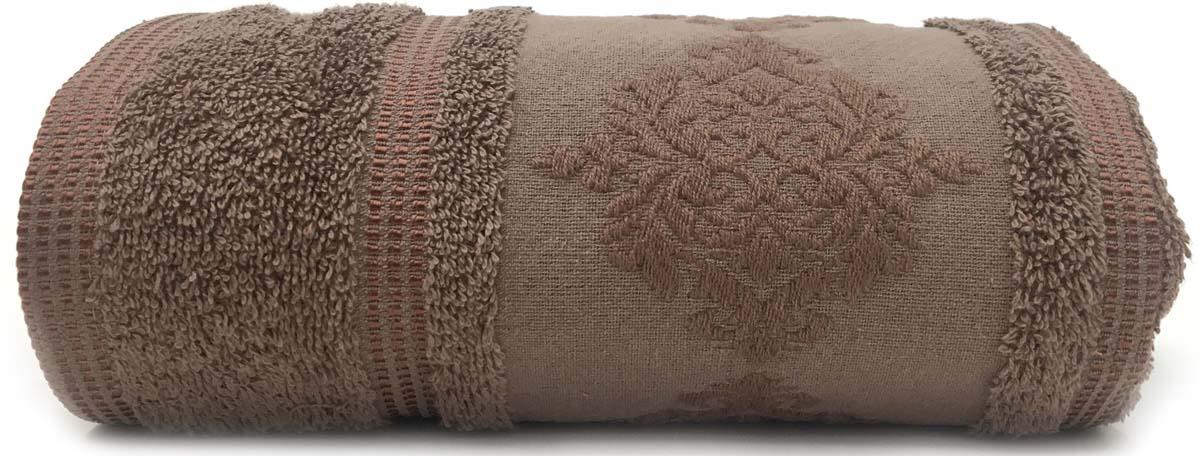 Полотенце Сlassic by T Ривьера, цвет: коричневый, 50 х 90 см полотенце сlassic