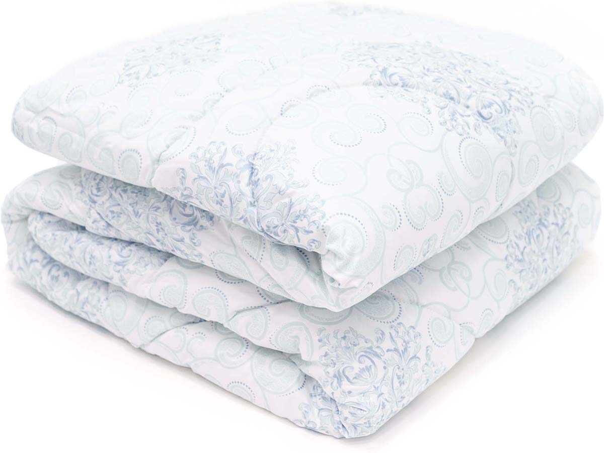 Одеяло Сlassic by T Белый чай, наполнитель: полиэфирное волокно, цвет: голубой, 140 х 200 см плед william roberts luca цвет белый 140 х 200 см