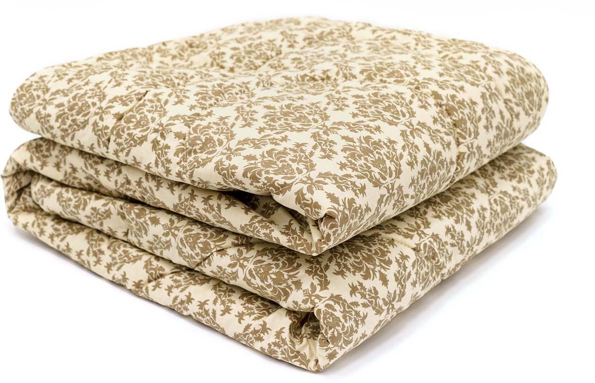 Одеяло Сlassic by T Саванна, наполнитель: верблюжья шерсть, полиэфирное волокно, цвет: экрю, 175 х 200 см одеяло classic by t верблюжья шерсть