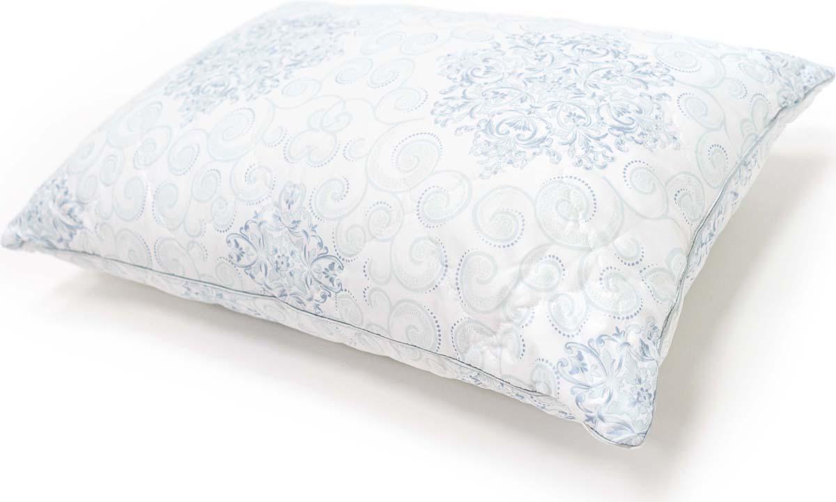 Подушка Сlassic by T Белый чай, стеганая, наполнитель: полиэфирное волокно, цвет: голубой, 50 х 70 см чай royal t stick