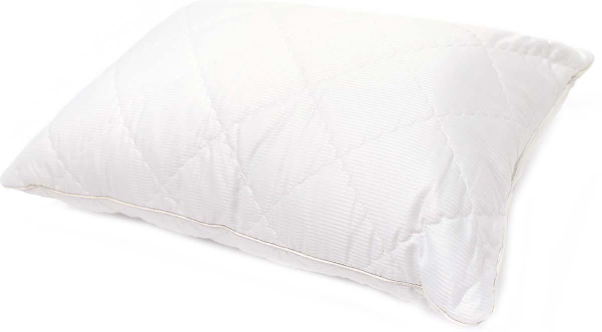 Подушка Сlassic by T Soft Wool, стеганая, наполнитель: полиэфирное волокно, цвет: белый, 50 х 70 см подушки classic by t подушка валерьяна 70х70