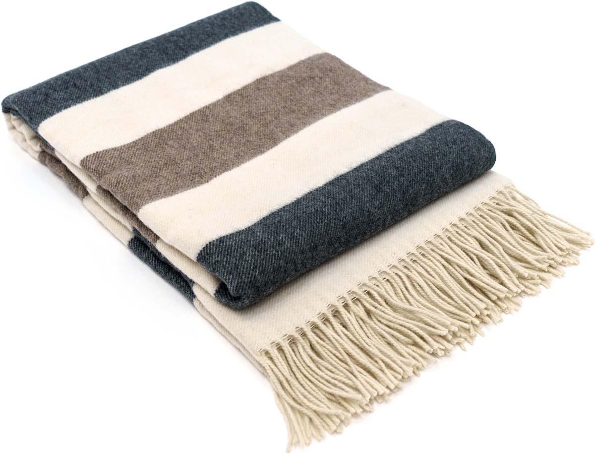 Плед Estia Эмбер, цвет: белый, серый, темно-серый, 140 х 200 см ключница gianni conti 9519155 blue