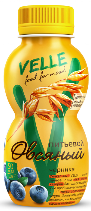 Velle Продукт овсяный питьевой Черника, 250 г clipper растворимый шоколад питьевой 250 г