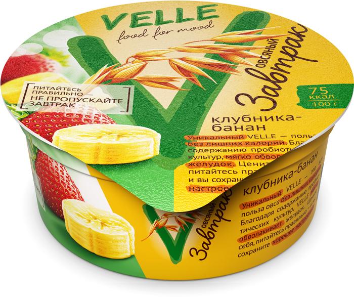 Velle Овсяный завтрак Клубника-Банан, 175 г муми трубочка для молока утренний микс со вкусами малина клубника дыня ежевика банан 30 г