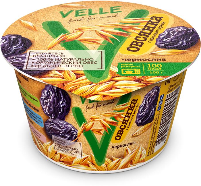 Velle Продукт овсяный ферментированный Чернослив и Овсянка, 180 г хлебная смесь овсяный хлеб