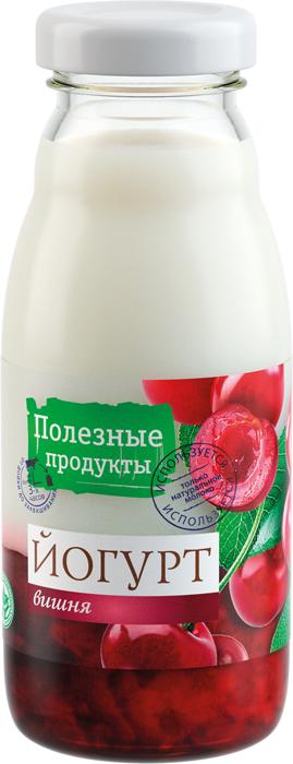 Полезные продукты Йогурт резервуарный Вишня 1,5%, 170 г